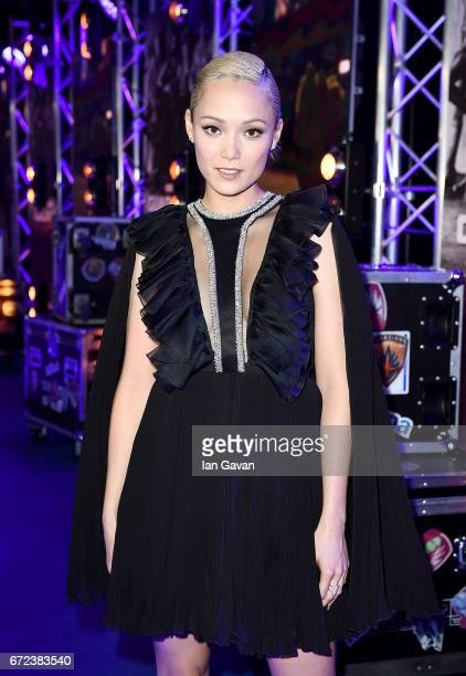 Pom Klementieff attends the European launch event of Marvel Studios' 'Guardians of the Galaxy Vol 2' at the Eventim Apollo on April 24 2017 in London...