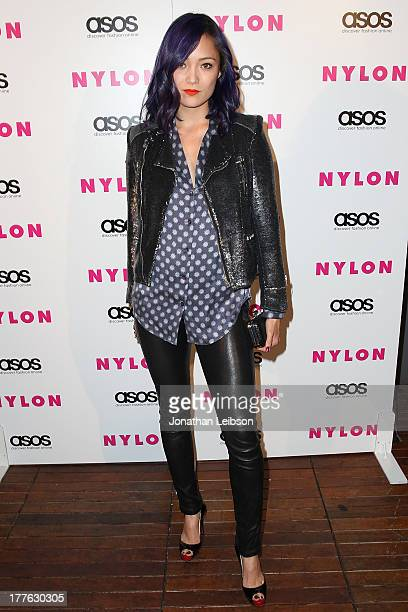 Pom Klementieff attends the NYLON ASOS Cover Star Emily VanCamp Celebrate The September Issue At The Redbury at The Redbury Hotel on August 24 2013...