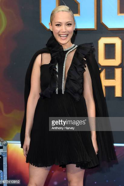 Pom Klementieff attends the UK screening of 'Guardians of the Galaxy Vol 2' at Eventim Apollo on April 24 2017 in London United Kingdom