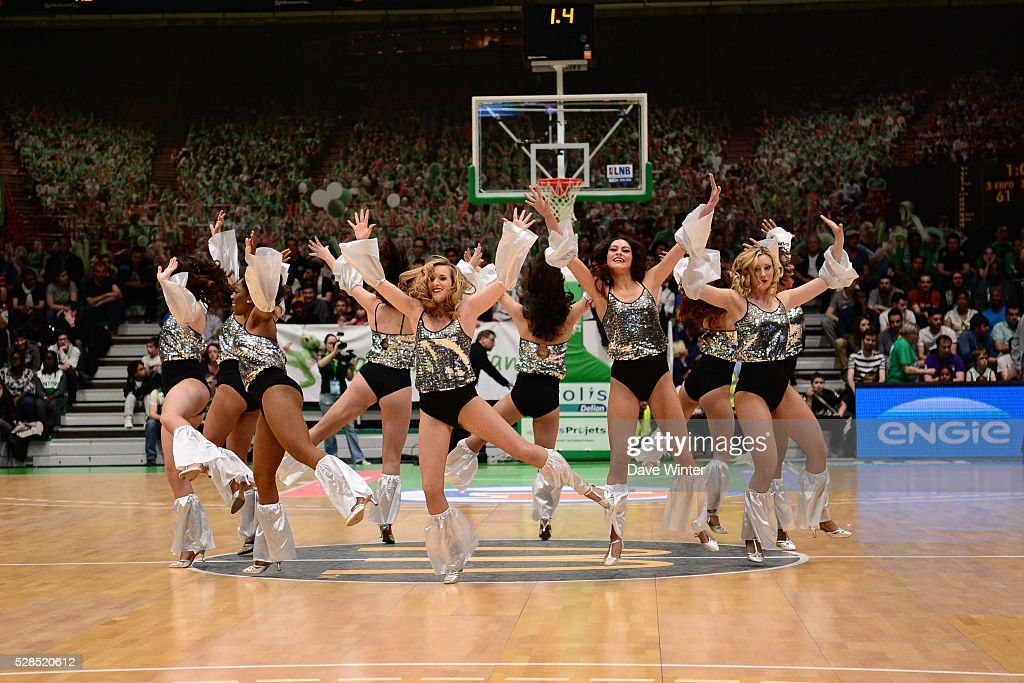 Pom Pom Girls during the basketball French Pro A League match between Nanterre and Paris Levallois on May 5, 2016 in Nanterre, France.