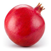Pomegranate isolated on white. With clipping path.