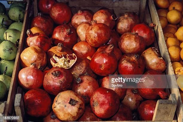 Pomegranates At A Farmer'S Market In Armenia 2003