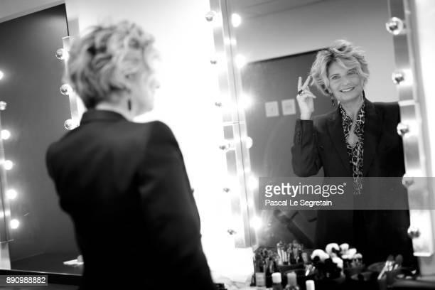 Pomellato France CEO Sabina Belli is seen backstage during the Paris Luxury Summit 2017 at Theatre Des Sablons on December 12 2017 in NeuillysurSeine...
