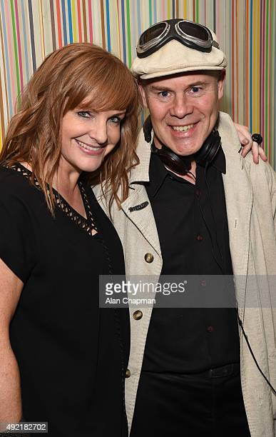 Pomeroy and Thomas Dolby attends the after party of the UK Premiere of 'Live From New York' during the BFI London Film Festival at The Groucho Club...