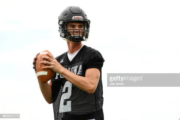 Pomona quarterback Ryan Marquez during their practice at Pomona high school in Arvada August 14 2017 Arvada Colorado