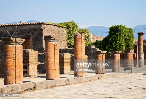 Pompeii - archaeological site : Stock Photo