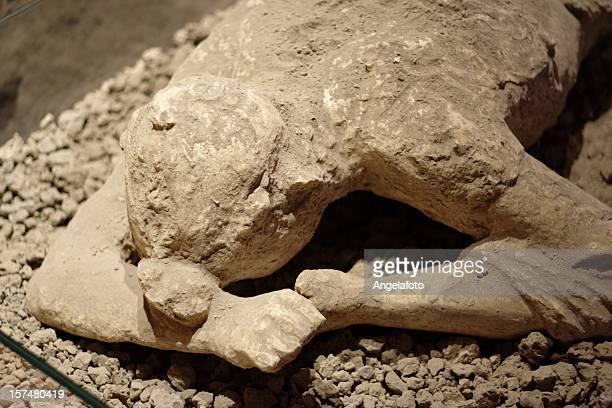 Pompei matrici di un cadavere da Vesuvio Eruprion