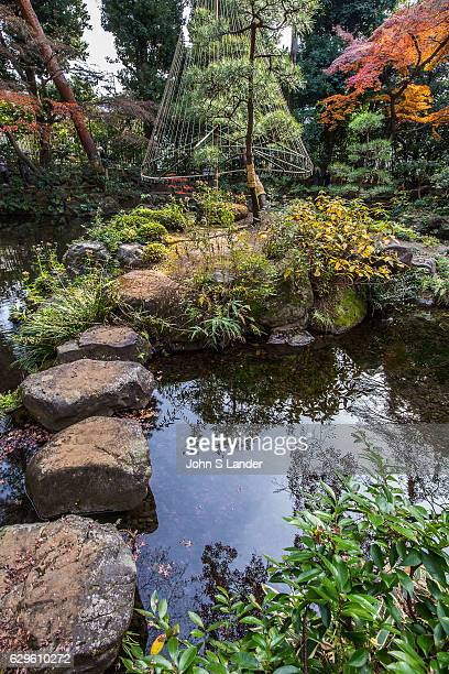 Pond and Island at Tonogayato Garden a landscape type garden in Kokubunji Tokyo built for the vicepresident of Manchurian Railway and is now owned by...