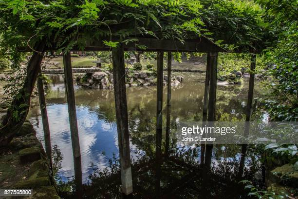 Pond at Tamazato Garden officially known as Gardens of Tamazato Residence Naroiki Shimadzu built the villa called Tamazato Residence here in 1835 the...