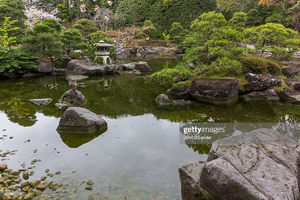 Pond Garden at Shiosai Garden was once a part of the Hayama Imperial Villa Shiosai Teien is a traditional Chisen Kaiyu Shiki Japanese strolling pond...