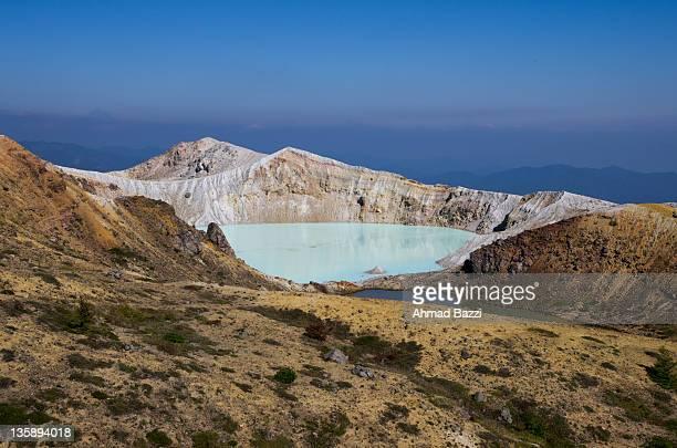 Pond in Volcanic mountain in Kusatsu, Japan