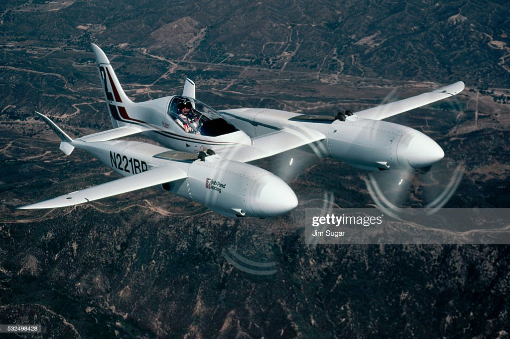Pond Racer Airplane in Flight
