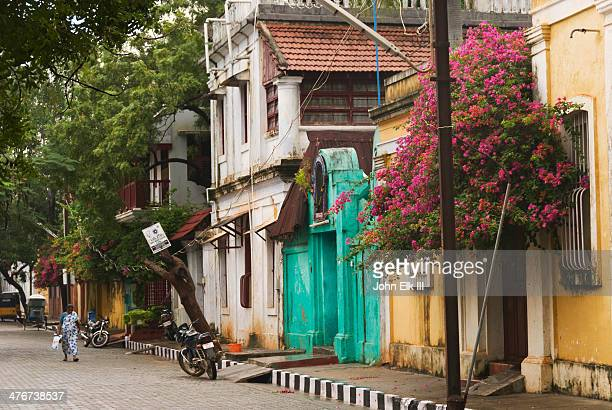 Pondicherry, French Quarter, street scene