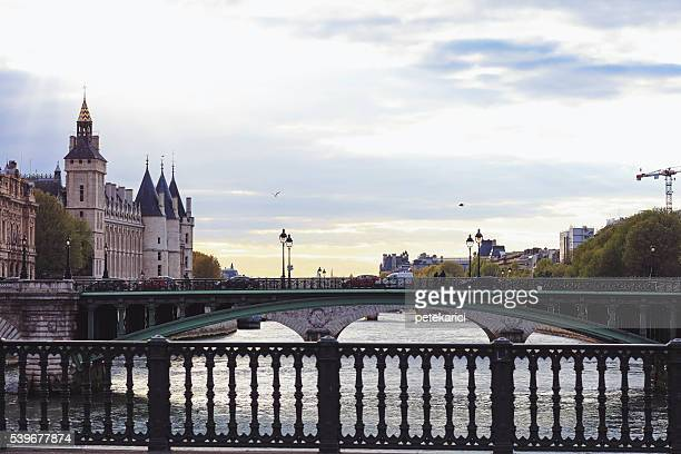 Pont au Change and Conciergerie, former prison in Paris