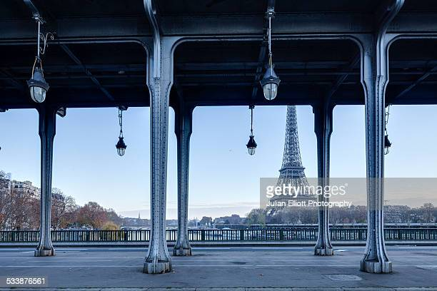 Pont Bir Hakeim and the Eiffel Tower in Paris