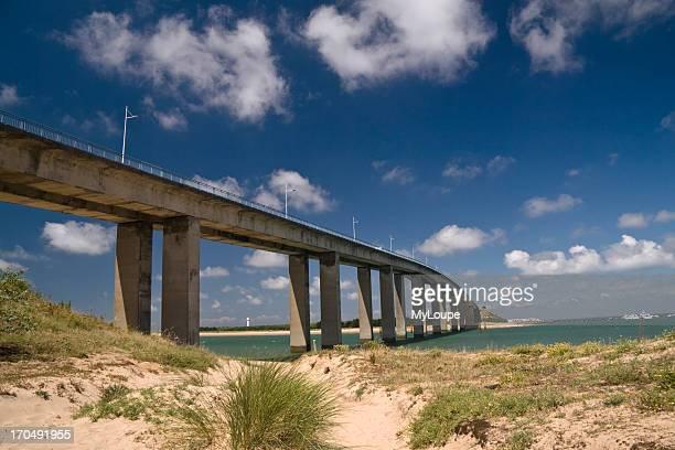 Pont de Noirmoutier bridge from Fromentine VendTe Pays de la Loire France