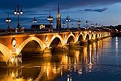 Pont de Pierre with St. Michel Basilica and Tower