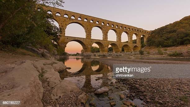 Pont Du Gard aqueduct, Languedoc-Roussillon,  France