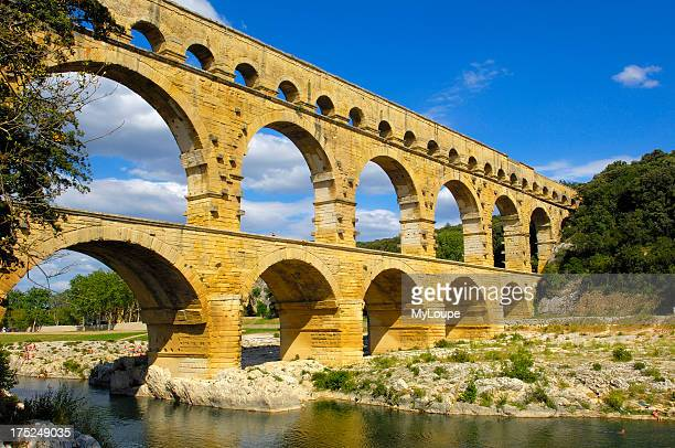 Pont du Gard Roman aqueduct Gard department Provence France