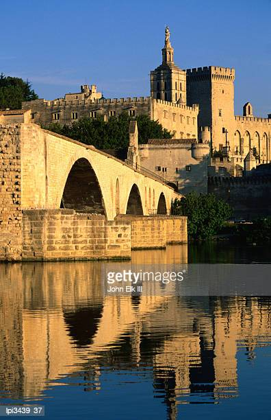 Pont Saint Benezet (Le Pont d' Avignon) on Rhone River, Low angle view, Avignon, France