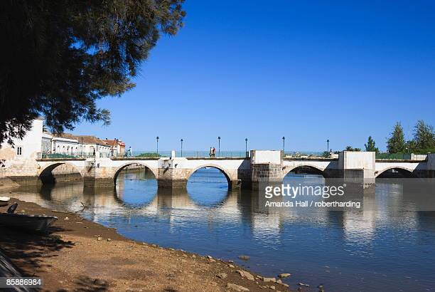 Ponta Romana (Roman Bridge) over River Gilao, Tavira, Algarve, Portugal, Europe