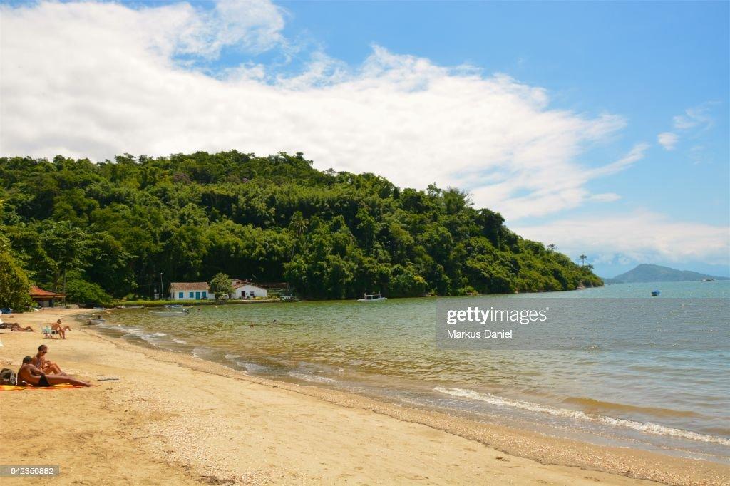 Pontal Beach in Town of Paraty, Rio de Janeiro : Stock Photo