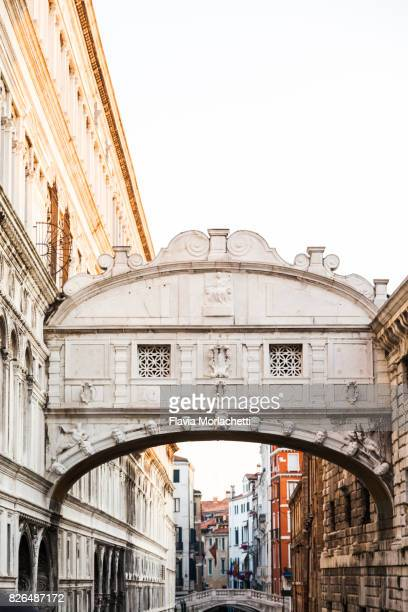 'Ponte dei Sospiri' or Bridge of Sighs in Venice