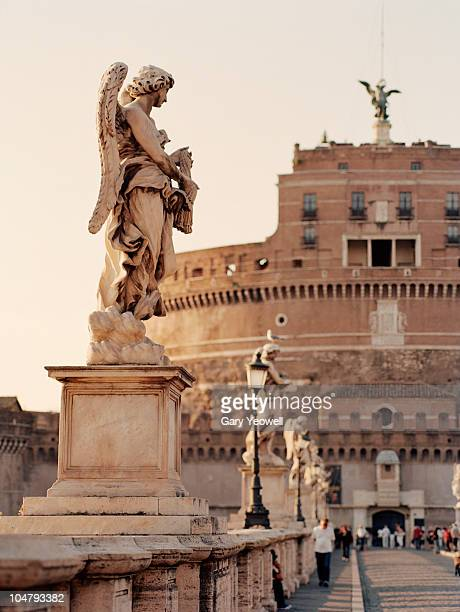 Ponte San't Angelo in Rome at sunset
