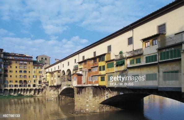 Ponte Vecchio 14th century Florence Tuscany Italy