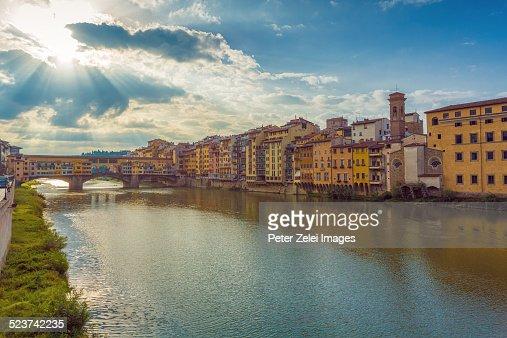 Ponte Vecchio and the riverbank