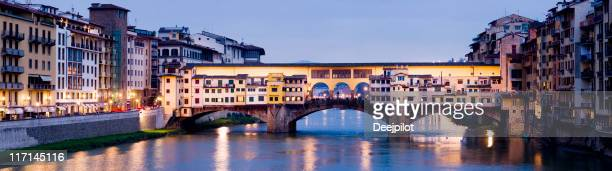 Ponte Vecchio Bridge in Florence at Night Italy