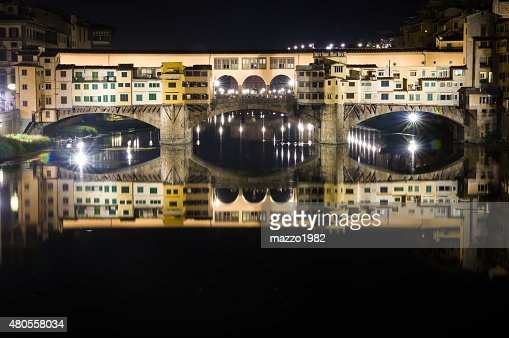 Ponte Vecchio by Night, Florence : Stock Photo
