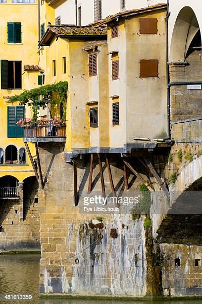 Ponte Vecchio medieval bridge across River Arno