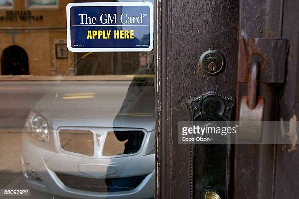 Pontiac G3 sits inside the front door at Roseland Pontiac June 1 2009 in Chicago Illinois The dealership has been selling General Motors vehicles at...