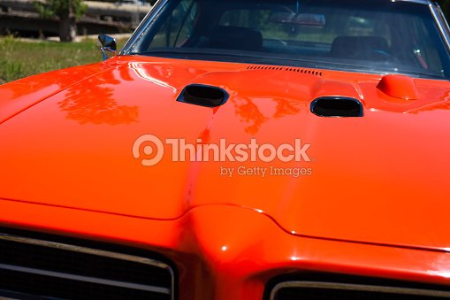 Pontiac Gto Car Hood And Hood Scoops Stock Photo Thinkstock