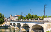Pont-Neuf, a bridge in Cognac - France, Charente