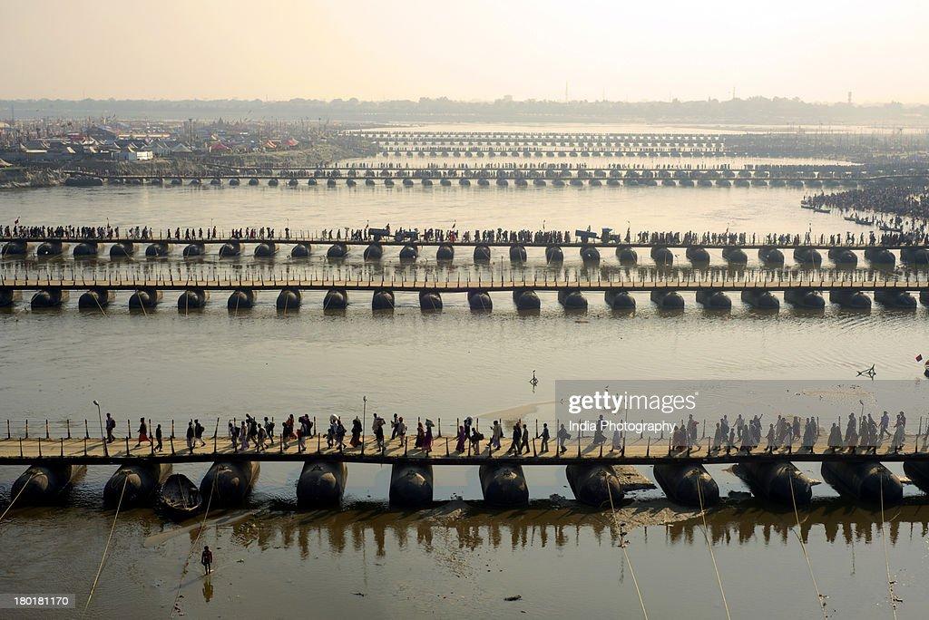 Pontoon Bridges @ Kumbh Mela