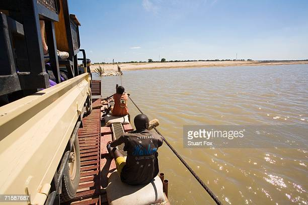 Pontoon Crossing the Luangwe River