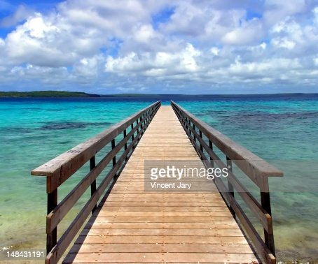 Pontoon new caledonia : Stock Photo