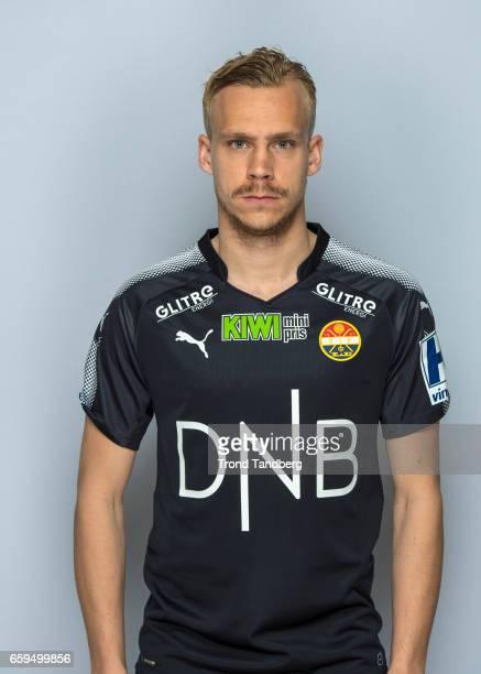 Pontus Engblom of Team Stromsgodset Fotballklubb during Photocall on March 17 2017 in Drammen Norway