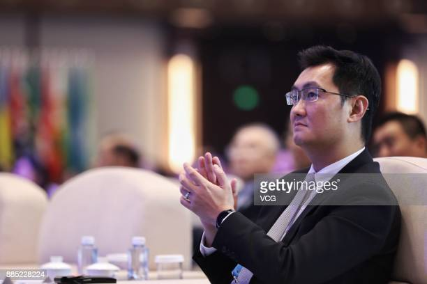 'Pony' Ma Huateng chairman and chief executive officer of Tencent Holdings Ltd attends the opening ceremony of the 4th World Internet Conference on...