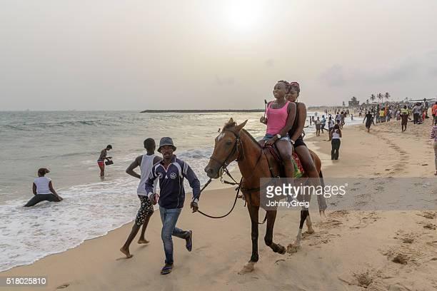 Pony ride on Elugushi Beach, Lagos, Nigeria