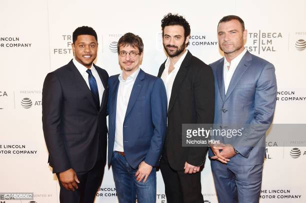 Pooch Hall Philippe Falardeau Morgan Spector and Liev Schreiber attend the 'Chuck' Premiere 2017 Tribeca Film Festival on April 28 2017 in New York...