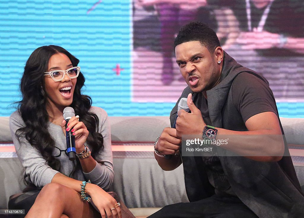 <a gi-track='captionPersonalityLinkClicked' href=/galleries/search?phrase=Pooch+Hall&family=editorial&specificpeople=879951 ng-click='$event.stopPropagation()'>Pooch Hall</a> (R) with host <a gi-track='captionPersonalityLinkClicked' href=/galleries/search?phrase=Angela+Simmons&family=editorial&specificpeople=653461 ng-click='$event.stopPropagation()'>Angela Simmons</a> at BET's 106 and Park at BET Studios on July 24, 2013 in New York City.