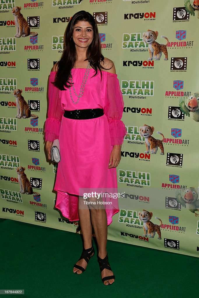 Pooja Batra attends the Delhi Safari Los Angeles premiere at Pacific Theatre at The Grove on December 3, 2012 in Los Angeles, California.