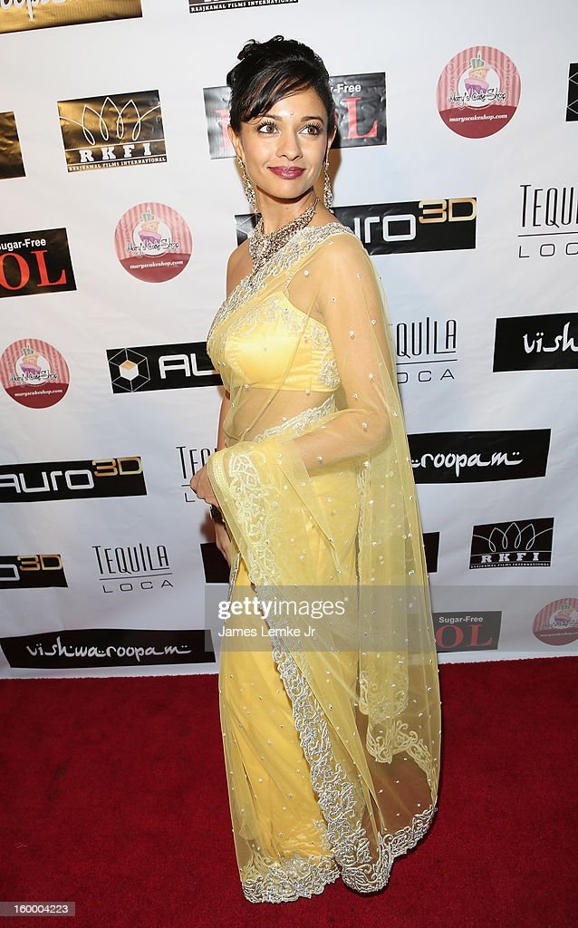 Pooja Kumar attends the 'Vishwaroopam' premiere held at the Pacific Theaters at the Grove on January 24 2013 in Los Angeles California