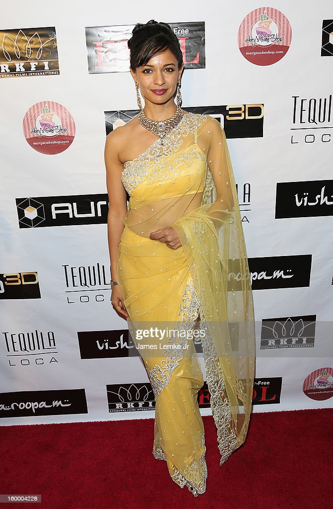Pooja Kumar attends the 'Vishwaroopam' premiere held at the Pacific Theaters at the Grove on January 24, 2013 in Los Angeles, California.
