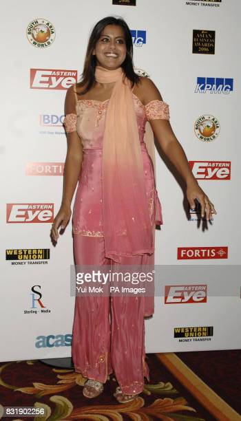 Pooja Shah arrives at the Eastern Eye Asian Business Awards 2006 at the Grosvenor Park Hotel central London