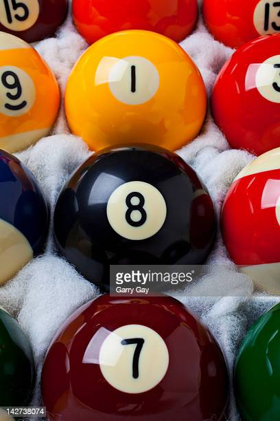 Pool balls in a box