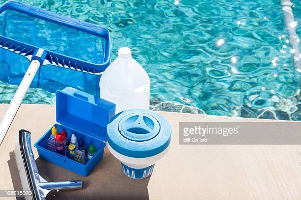 プールの化学組成テスト